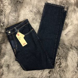 Levi's   Men's Straight Fit Jeans   Dark Wash